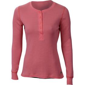 Aclima WarmWool Granddad Shirt Women Calypso Coral